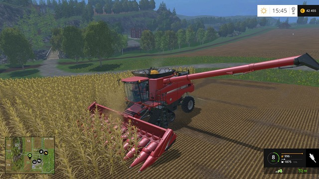 The wider the header, the more efficient you will work. - Grain - Plants - Farming Simulator 15 Game Guide