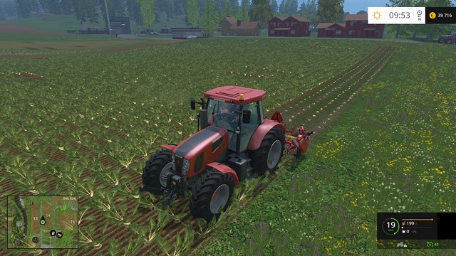 The first stage of the work - removing the leaves. - Sugar beets and potatoes - Plants - Farming Simulator 15 Game Guide
