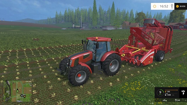 Harvesting the roots is the next task. - Sugar beets and potatoes - Plants - Farming Simulator 15 Game Guide