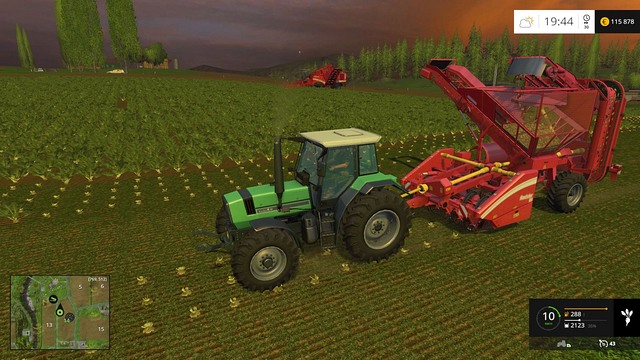 Working in tandem - me and my worker. - Sugar beets and potatoes - Plants - Farming Simulator 15 Game Guide