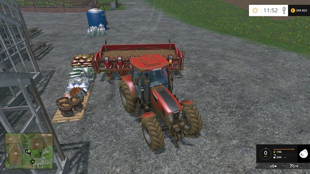 Filling up the machine. - Sugar beets and potatoes - Plants - Farming Simulator 15 Game Guide
