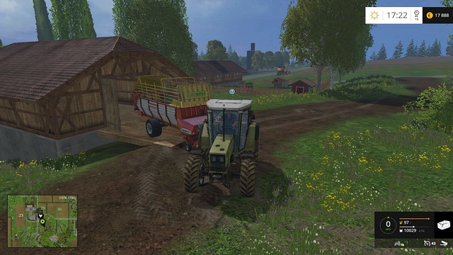 To sell grass/hay/straw, you have to drive to the shop and unload the trailer. - Grass, hay, straw - Plants - Farming Simulator 15 Game Guide
