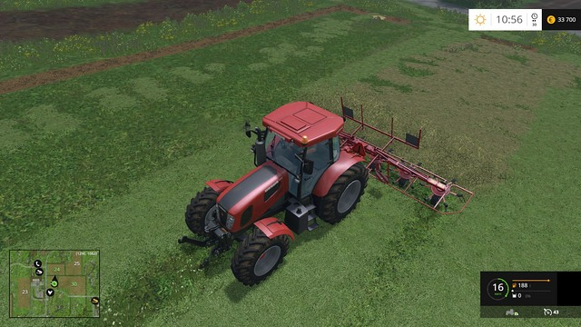 Windrowing doesnt take long. - Grass, hay, straw - Plants - Farming Simulator 15 Game Guide