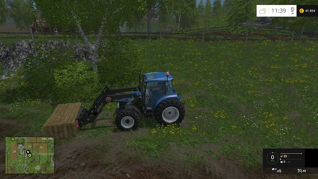 To transport bales, you will need a front loader. - Grass, hay, straw - Plants - Farming Simulator 15 Game Guide