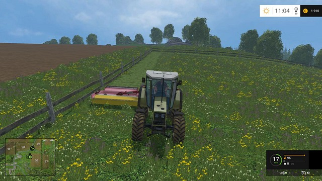 Mowing is an easy and relatively quick task. - Mowing - Plants - Farming Simulator 15 Game Guide