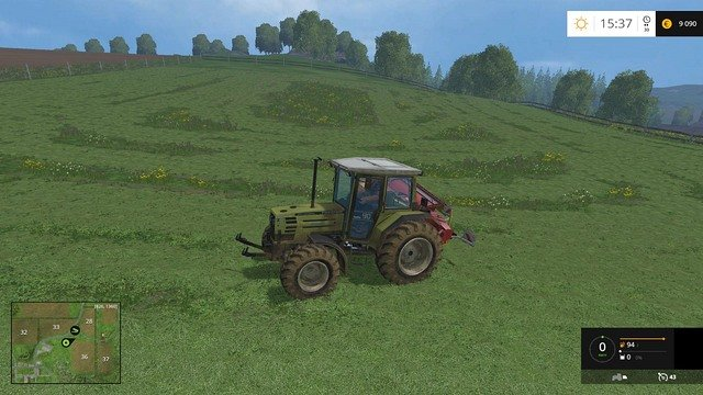 It may not look particularly pretty, but the mission is completed. - Mowing - Plants - Farming Simulator 15 Game Guide