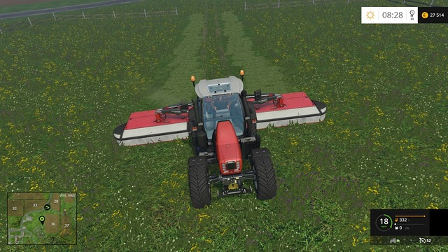 When having the best available mower, the task will take you three minutes maximum. - Mowing - Plants - Farming Simulator 15 Game Guide