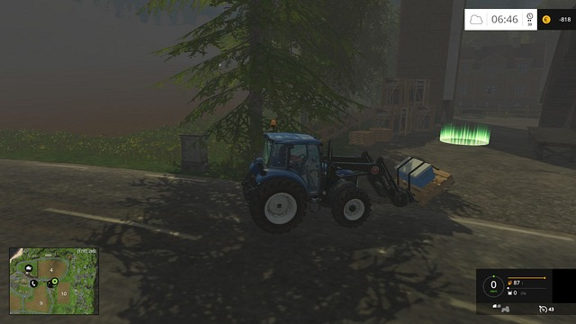 Now you just need to get close to the green circle. - Transport - Plants - Farming Simulator 15 Game Guide