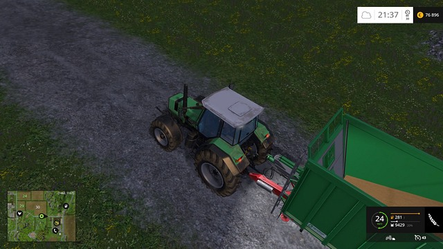 A weak tractor and a heavy trailer is not a good idea. - Demand - Plants - Farming Simulator 15 Game Guide