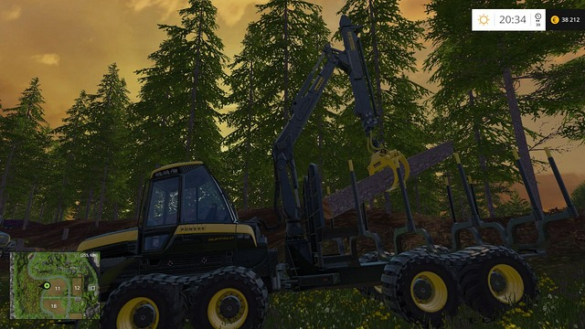 In this position, you can place the log properly. - Woodcutting - Other - Farming Simulator 15 Game Guide