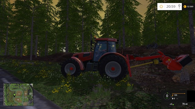 To remove a stump, lower the machine onto it. - Woodcutting - Other - Farming Simulator 15 Game Guide