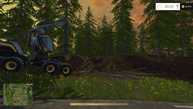 With this machine, the work is done in a blink of an eye. - Woodcutting - Other - Farming Simulator 15 Game Guide