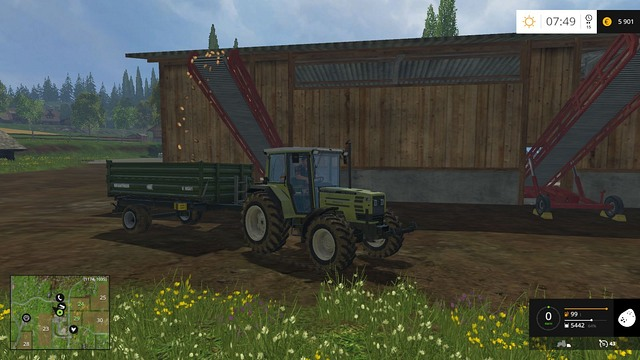 Potatoes and sugar beets are unloaded automatically - you just have to drive to the right place. - Store or sell - Other - Farming Simulator 15 Game Guide