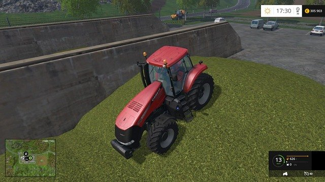 A tractor will do just fine to press the chaff. - Biogas - a profitable business - Other - Farming Simulator 15 Game Guide