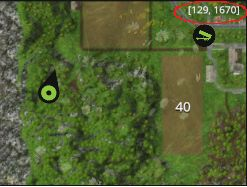To check your location, just look at the minimap - your coordinates are displayed in its top right corner - Map - Gold Coins - Farming Simulator 15 Game Guide