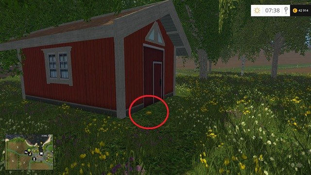 Behind the red hut - Section B - coins 13 - 29 - Gold Coins - Farming Simulator 15 Game Guide