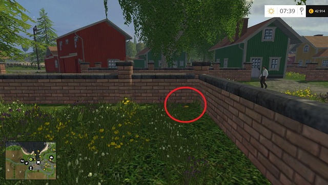 In the corner of the stone fence - Section B - coins 13 - 29 - Gold Coins - Farming Simulator 15 Game Guide