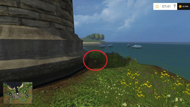 Behind the lighthouse - Section B - coins 13 - 29 - Gold Coins - Farming Simulator 15 Game Guide