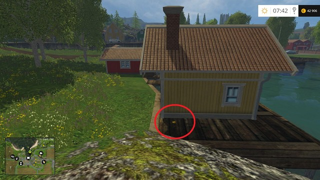 Near the yellow hut - Section B - coins 13 - 29 - Gold Coins - Farming Simulator 15 Game Guide