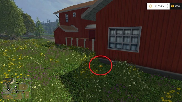 Behind the house on the hill - Section B - coins 13 - 29 - Gold Coins - Farming Simulator 15 Game Guide