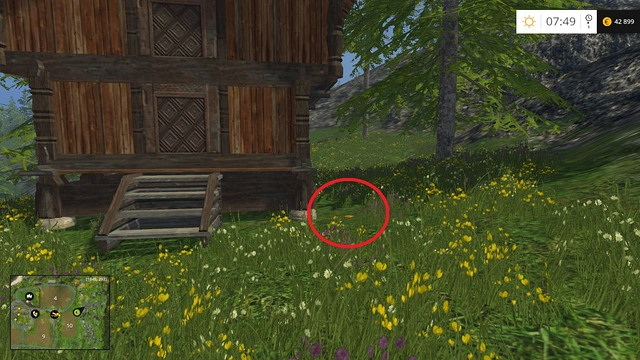 Near a wooden hut, on the edge of field no - Section B - coins 13 - 29 - Gold Coins - Farming Simulator 15 Game Guide