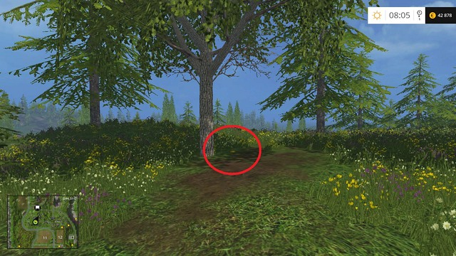 On a glade, under a tree - Section C - coins 30 - 44 - Gold Coins - Farming Simulator 15 Game Guide