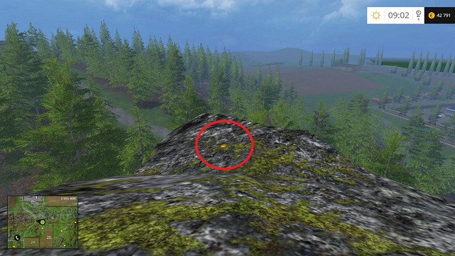 On the highest rock around - Section D - coins 45 - 54 - Gold Coins - Farming Simulator 15 Game Guide