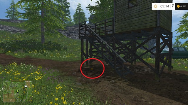 Under the stairs of a raised hide - Section D - coins 45 - 54 - Gold Coins - Farming Simulator 15 Game Guide