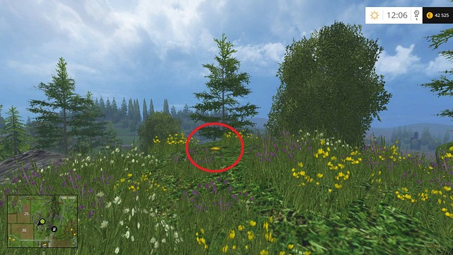 On a small hill - Section F - coins 70 - 89 - Gold Coins - Farming Simulator 15 Game Guide