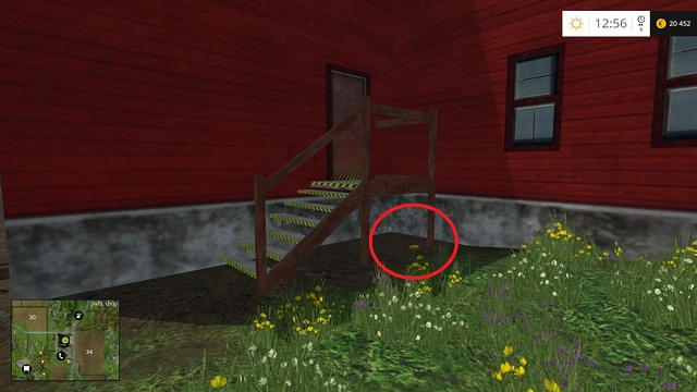 Under some stairs, behind the grain elevator - Section F - coins 70 - 89 - Gold Coins - Farming Simulator 15 Game Guide