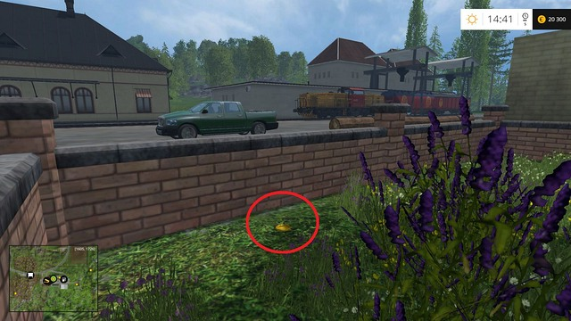 Just behind the fence - Section G - coins 90 - 100 - Gold Coins - Farming Simulator 15 Game Guide