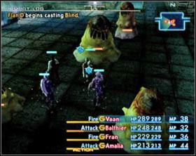 In the next chamber a fight with a Flan gang awaits you - Garamsythe Waterway - again - Part I - Final Fantasy XII - Game Guide and Walkthrough