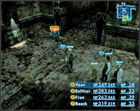 Starting from the left side: Gate Switchboard, Burrogh, gate. - Barheim Passage - Part I - Final Fantasy XII - Game Guide and Walkthrough