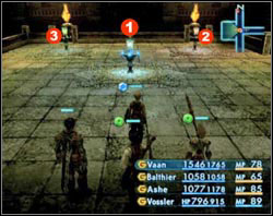 Here you'll see three teleportation devices - The Tomb of Raithwall - Part I - Final Fantasy XII - Game Guide and Walkthrough