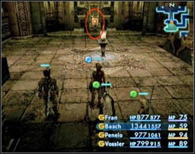 Switch in the north wing. After activating it you�ll be attacked by three Zombie Mages. Use the teleportation device to get to the main hall. - The Tomb of Raithwall - Part I - Final Fantasy XII - Game Guide and Walkthrough