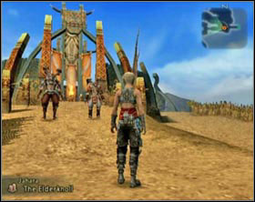 Supinelu is standing before the bridge leading to the Elder knoll [screen 1] - Jahra - Part II - Final Fantasy XII - Game Guide and Walkthrough