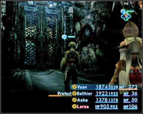 In this mine you'll encounter two kinds of gates: blue and red - Henne Mines - Part II - Final Fantasy XII - Game Guide and Walkthrough