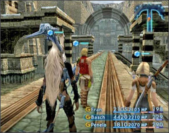 When you enter the Stillshrine keep running south till you pass the Gate Crystal - Stilshrine of Miriam - Part II - Final Fantasy XII - Game Guide and Walkthrough