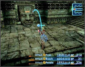 In the temple you'll run across moving ornaments: Miriam Guardians (on the left side) and Miriam Facers (on the right side) - Stilshrine of Miriam - Part II - Final Fantasy XII - Game Guide and Walkthrough
