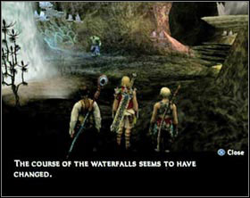 Every time you enter the big, irregular area you'll see a message that the course of waterfalls have changed. - Sochen Cave Palace - Part II - Final Fantasy XII - Game Guide and Walkthrough