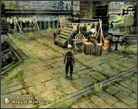 You'll see two guards on the stairs [screen 1] - Old Archades - Part II - Final Fantasy XII - Game Guide and Walkthrough