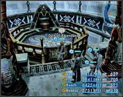 After the battle go to the hall with shaft and turn off that restriction you had on you during this whole ascent - approach a proper altar and deactivate it - Second Ascent - Part III - Final Fantasy XII - Game Guide and Walkthrough