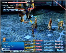 Famfrit's element is Water, so the damage he'll deal you will be based on water - Third Ascent - Part III - Final Fantasy XII - Game Guide and Walkthrough