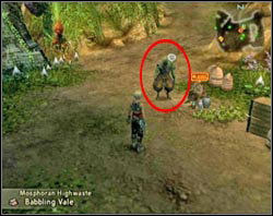 The petitioner on this one is Va'Kansa, which can be found standing near the seller in Mosphoran Highwaste - Braegh (rank IV) - Ordinary hunt notices - Final Fantasy XII - Game Guide and Walkthrough