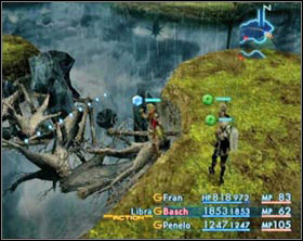 The strucked trees gonna create a passage to a hidden area. - Gil Snapper (rank III) - Extraordinary hunt notices - Final Fantasy XII - Game Guide and Walkthrough