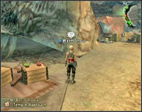 After you have talked with Koqmihn go to Mt Bur-Omisace, approach Wyrm's Snout [screen 1], unarm Vaan and hit it - Behemoth King (rank VII) - Extraordinary hunt notices - Final Fantasy XII - Game Guide and Walkthrough