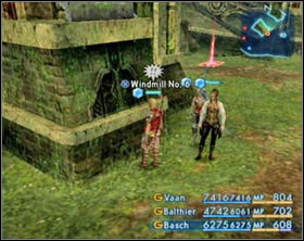 On the left shown is position of windmills in Cerobi Steppe. - Fishing - Side Quests - Final Fantasy XII - Game Guide and Walkthrough