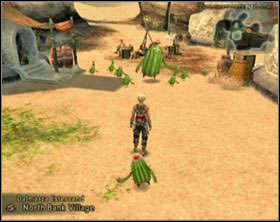 Go there and pick up flower from the ground [screen 1], swim to other bank and approach the group of Cactoids standing there - Backdoor - Side Quests - Final Fantasy XII - Game Guide and Walkthrough