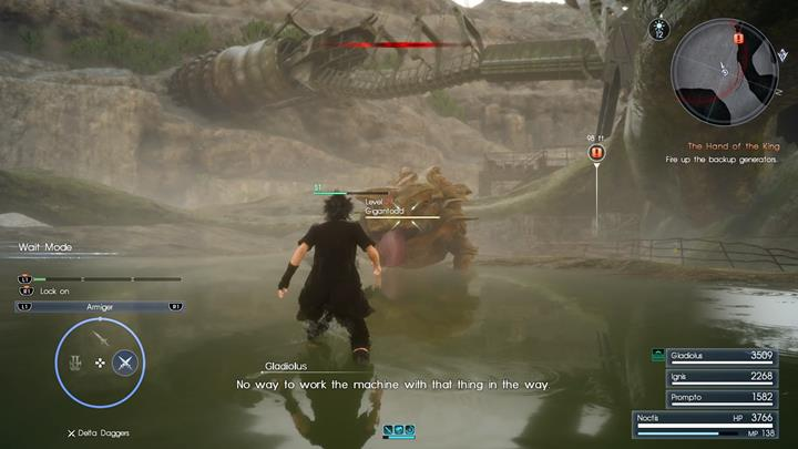 A Gigantoad will be defending the generator. - Chapter 10 - The Heart of a King | Main storyline - Main storyline - Final Fantasy XV Game Guide