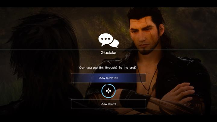 During the march Gladio will initiate a conversation with Noctis - Chapter 10 - The Heart of a King | Main storyline - Main storyline - Final Fantasy XV Game Guide